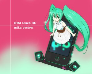 Rating: Safe Score: 40 Tags: hatsune_miku ipod twintails vocaloid User: HawthorneKitty