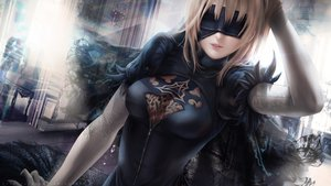 Rating: Safe Score: 126 Tags: alexandra_mae artoria_pendragon_(all) blindfold blonde_hair cosplay fate/grand_order fate_(series) nier nier:_automata realistic saber watermark User: BattlequeenYume