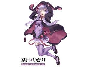 Rating: Safe Score: 151 Tags: dress hoodie nakasaki_hydra purple_eyes purple_hair thighhighs twintails vocaloid voiceroid white yuzuki_yukari zettai_ryouiki User: FormX