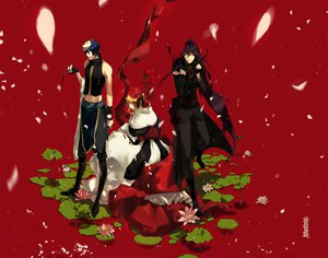 Rating: Safe Score: 26 Tags: all_male flowers kagamine_len kaito kamui_gakupo male petals red vocaloid User: HawthorneKitty