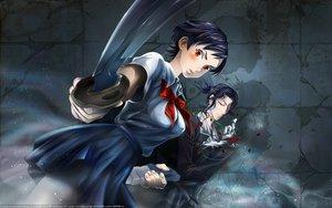 Rating: Safe Score: 25 Tags: black_hair blood_(anime) flowers haji katana orange_eyes otonashi_saya rose school_uniform short_hair sword weapon User: happygestapo