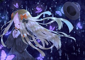 Rating: Safe Score: 37 Tags: abigail_williams_(fate/grand_order) blonde_hair blue bow butterfly dress fate/grand_order fate_(series) hat long_hair sinobi_illust User: otaku_emmy