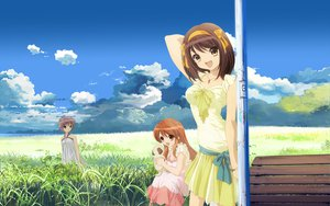 Rating: Safe Score: 148 Tags: asahina_mikuru dress landscape nagato_yuki scenic summer_dress suzumiya_haruhi suzumiya_haruhi_no_yuutsu User: gnarf1975