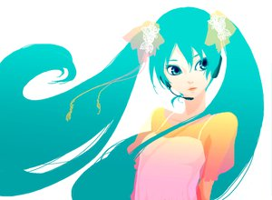 Rating: Safe Score: 28 Tags: aqua_eyes aqua_hair dress hatsune_miku headphones twintails vocaloid white User: haru3173