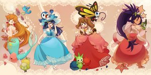 Rating: Safe Score: 114 Tags: axew beautifly dress haruka_(pokemon) hat hikari_(pokemon) horsea iris_(pokemon) kasumi_(pokemon) luvdisc mermaid piplup pokemon psyduck roselia sasairebun User: FormX