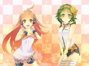 Rating: Safe Score: 55 Tags: gumi miki_(vocaloid) vocaloid User: Shahid_MMIV
