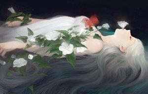 Rating: Safe Score: 46 Tags: animal dress fish flowers long_hair original teiraman white_hair User: RyuZU