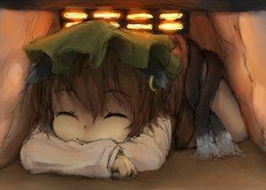 Rating: Safe Score: 58 Tags: animal_ears catgirl chen hat hayake jpeg_artifacts kotatsu multiple_tails sketch tail touhou User: SciFi