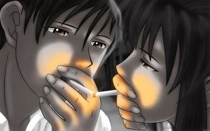 Rating: Safe Score: 72 Tags: black_lagoon cigarette fire revy rock smoking vector User: Oyashiro-sama