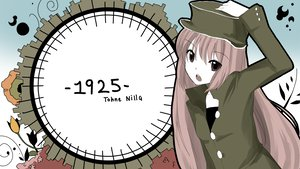 Rating: Safe Score: 26 Tags: 1925_(vocaloid) flowers hat long_hair original pink_hair red_eyes tohne_nilla uniform utau User: TomomiSuzune