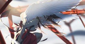 Rating: Safe Score: 76 Tags: dress long_hair original wings yoneyama_mai User: FormX
