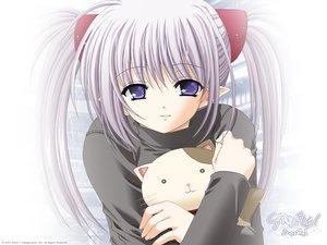 Rating: Safe Score: 18 Tags: animal cat long_hair nishimata_aoi pointed_ears primula purple_eyes purple_hair shuffle twintails User: Oyashiro-sama