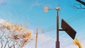Rating: Safe Score: 45 Tags: banishment landscape original scenic signed sky tree windmill User: Dreista