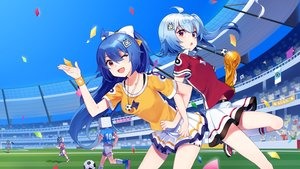 Rating: Safe Score: 47 Tags: 2girls ball bili_bili_douga bili_girl_22 bili_girl_33 sharlorc soccer sport uniform User: RyuZU