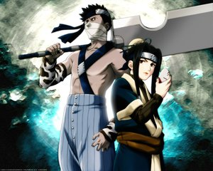 Rating: Safe Score: 3 Tags: all_male haku_(naruto) male mask momochi_zabuza naruto sword weapon User: Oyashiro-sama