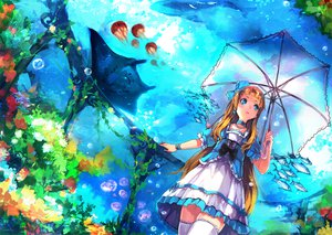 Rating: Safe Score: 78 Tags: animal bow bubbles choker dress fish necklace original umbrella underwater zettai_ryouiki zhuxiao517 User: FormX