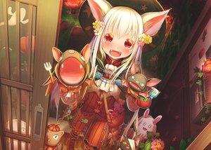 Rating: Safe Score: 62 Tags: abo_(kawatasyunnnosukesabu) animal_ears boots cape doll fang halloween hat lolita_fashion original pumpkin puppet red_eyes vampire white_hair User: otaku_emmy