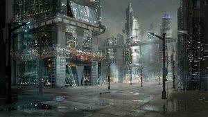 Rating: Safe Score: 92 Tags: building city mooochan night nobody original rain reflection scenic water User: RyuZU