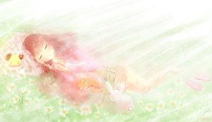 Rating: Safe Score: 18 Tags: flowers original sleeping tagme_(artist) User: SciFi