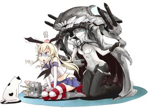 Rating: Safe Score: 82 Tags: animal anthropomorphism blonde_hair blue_eyes cat elbow_gloves gloves kantai_collection rensouhou-chan ribbons shimakaze_(kancolle) skirt tagme_(artist) thighhighs weapon wo-class_aircraft_carrier User: ArthurS91