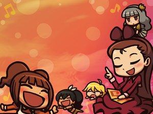 Rating: Safe Score: 24 Tags: chibi ganaha_hibiki hoshii_miki idolmaster minase_iori riyo shijou_takane takatsuki_yayoi User: pantu