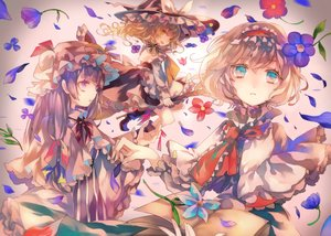Rating: Safe Score: 99 Tags: alice_margatroid book cha_goma flowers hat kirisame_marisa patchouli_knowledge touhou witch witch_hat User: Flandre93