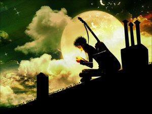 Rating: Safe Score: 26 Tags: cigarette clouds guitar instrument moon nana_(series) night okazaki_shinichi sky smoking User: Oyashiro-sama