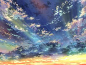 Rating: Safe Score: 95 Tags: clouds iy_tujiki original scenic sky sunset User: FormX