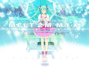 Rating: Safe Score: 59 Tags: 119 dress hatsune_miku long_hair melt_(vocaloid) twintails umbrella vocaloid User: anaraquelk2