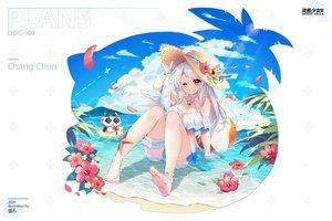 Rating: Safe Score: 71 Tags: anthropomorphism bikini chang_chun_(zhanjian_shaonu) clouds flowers hasu_(velicia) hat sky swimsuit water watermark wink zhanjian_shaonu User: BattlequeenYume
