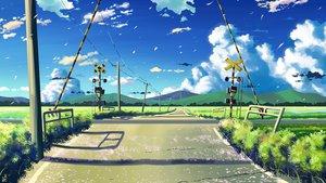 Rating: Safe Score: 142 Tags: byousoku_5_centimetre clouds grass landscape macnaut nobody original petals scenic signed sky User: STORM