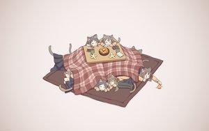 Rating: Safe Score: 64 Tags: animal_ears catgirl cat_smile food fruit kneehighs kotatsu long_hair orange_(fruit) original pantyhose seifuku skirt sleeping syego tail User: e919916