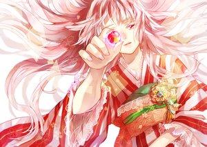 Rating: Safe Score: 38 Tags: japanese_clothes kimono long_hair original pink_eyes pink_hair sakuramochi1003 User: Flandre93
