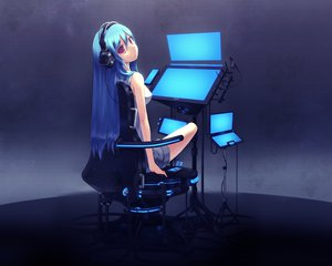 Rating: Safe Score: 42 Tags: blue_hair headphones ipod long_hair original red_eyes zenn User: acucar11