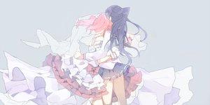 Rating: Safe Score: 25 Tags: 2girls black_hair bow dress hug kurosawa_ruby long_hair love_live!_school_idol_project love_live!_sunshine!! mashiro_(rikuya) matsuura_kanan ponytail red_hair seifuku skirt twintails User: BattlequeenYume