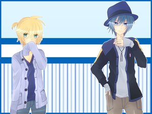Rating: Safe Score: 18 Tags: agi_(holic2007) hat kagamine_len kaito male vocaloid User: MissBMoon