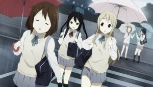 Rating: Safe Score: 26 Tags: akiyama_mio black_hair blonde_hair brown_eyes brown_hair group hirasawa_yui kicchi_(tmgk) kneehighs k-on! kotobuki_tsumugi long_hair nakano_azusa pantyhose rain seifuku short_hair skirt socks tainaka_ritsu twintails umbrella water User: RyuZU