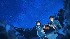 Rating: Safe Score: 16 Tags: dress fireworks flowers loli male night original yog_harukawa User: Fepple