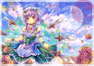Rating: Safe Score: 66 Tags: izayoi_sakuya moon pjrmhm_coa purple_hair touhou weapon User: Zolxys