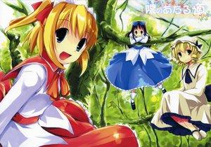 Rating: Safe Score: 3 Tags: forest luna_child star_sapphire sunny_milk touhou tree User: Oyashiro-sama