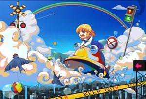 Rating: Safe Score: 31 Tags: animal ball bird blonde_hair bubbles clouds frog kirisame_marisa moriya_suwako rainbow ranka_(tonbo) short_hair thighhighs touhou witch yakumo_yukari yasaka_kanako User: PAIIS