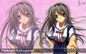 Rating: Safe Score: 37 Tags: blue_eyes clannad gray_hair headband key logo long_hair sakagami_tomoyo seifuku zoom_layer User: 秀悟