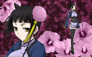 Rating: Safe Score: 52 Tags: black_hair chinese_clothes close flowers kuroshitsuji ran-mao thighhighs User: ssagwp