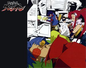 Rating: Safe Score: 13 Tags: boota gainax glasses kamina simon tengen_toppa_gurren_lagann yoko_littner User: Oyashiro-sama