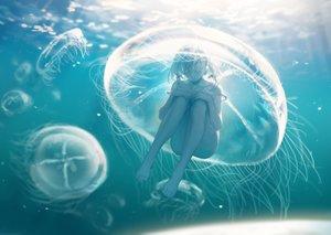 Rating: Safe Score: 43 Tags: barefoot nude original spencer_sais underwater water User: BattlequeenYume