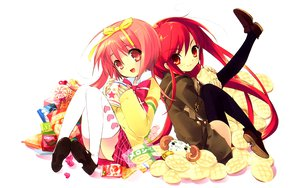 Rating: Safe Score: 18 Tags: akihime_sumomo crossover nanatsuiro_drops shakugan_no_shana shana white User: HawthorneKitty