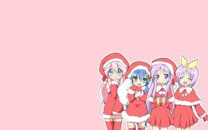 Rating: Safe Score: 58 Tags: blush christmas hiiragi_kagami hiiragi_tsukasa izumi_konata lucky_star maruki_(punchiki) pink takara_miyuki thighhighs User: SciFi