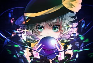 Rating: Safe Score: 40 Tags: close green_eyes green_hair hat komeiji_koishi sanamisa short_hair sketch touhou User: RyuZU