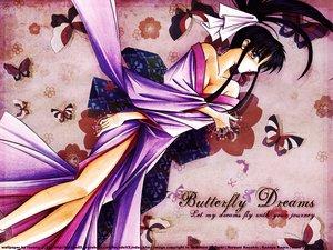 Rating: Questionable Score: 20 Tags: butterfly japanese_clothes kamiya_kaoru rurouni_kenshin User: 秀悟