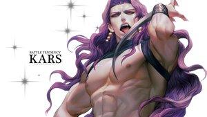 Rating: Safe Score: 12 Tags: all_male fang headdress jojo_no_kimyou_na_bouken kars_(jojo) long_hair male pink_eyes pointed_ears purple_hair rae_(off-record) weapon wristwear User: otaku_emmy